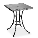 "Embossed 30"" Square Cafe Table (with Hole)"