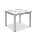 "Dockside 17"" Square Side Table/Bench - Slotted"