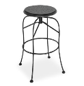 Espresso Swivel bar Stool - Starburst