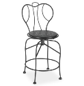 Espresso Swivel Balcony Stool - Padded