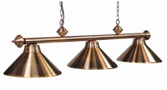 Full Metal Shade 3Lt Billiard Fixture Antique Copper Finish