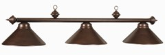 Full Metal Shade 3Lt Billiard Fixture Cherry Finish